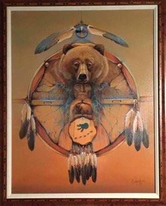Bear Shield Original framed