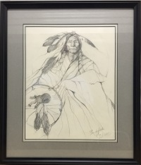 Bear Shield Original Sketch framed
