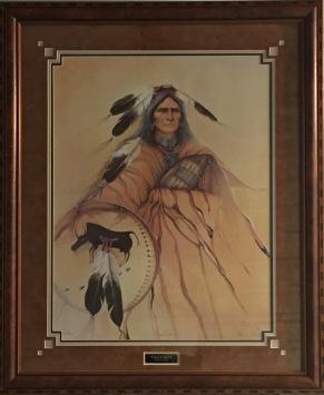 Eagle Man framed