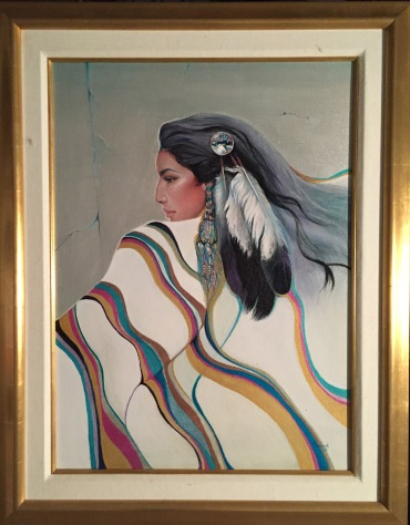 Navajo Woman Original framed
