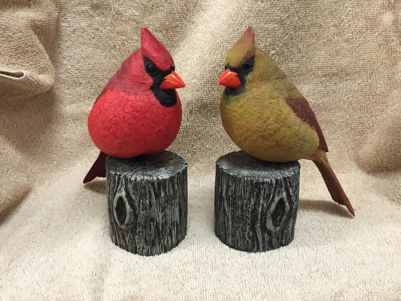 S Hamrick Cardinals Carvings