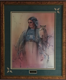 Souix Woman framed