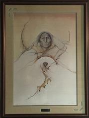 Spirit Watcher framed