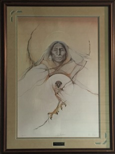 Spirit Watcher framed