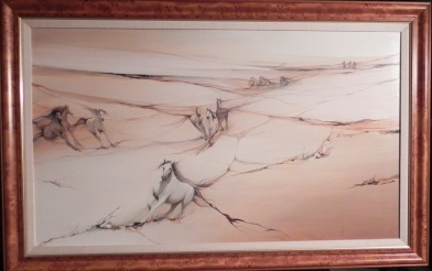 Wind River Run Original framed