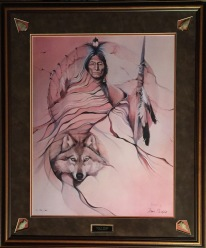 Wolf Robe framed-2