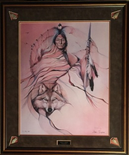 Wolf Robe framed-2
