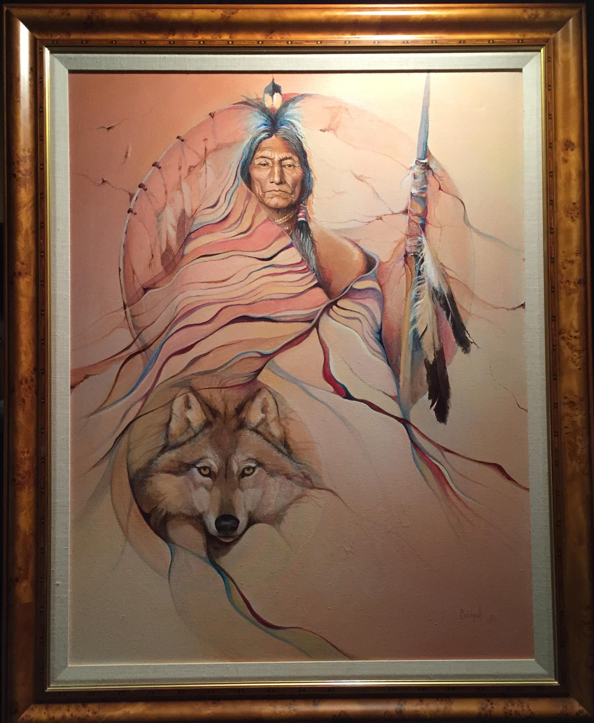 Wolf Robe Original framed