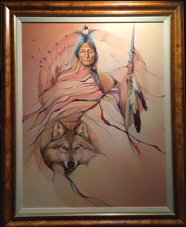 Wolf Robe Original framed